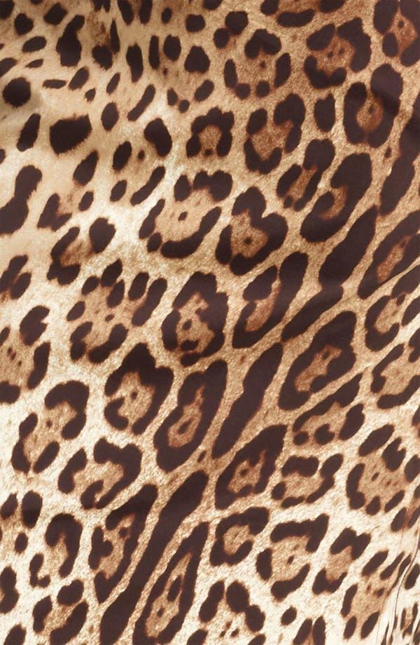 Alternate Image 3  - Dolce&Gabbana Leopard Print Stretch Silk Dress