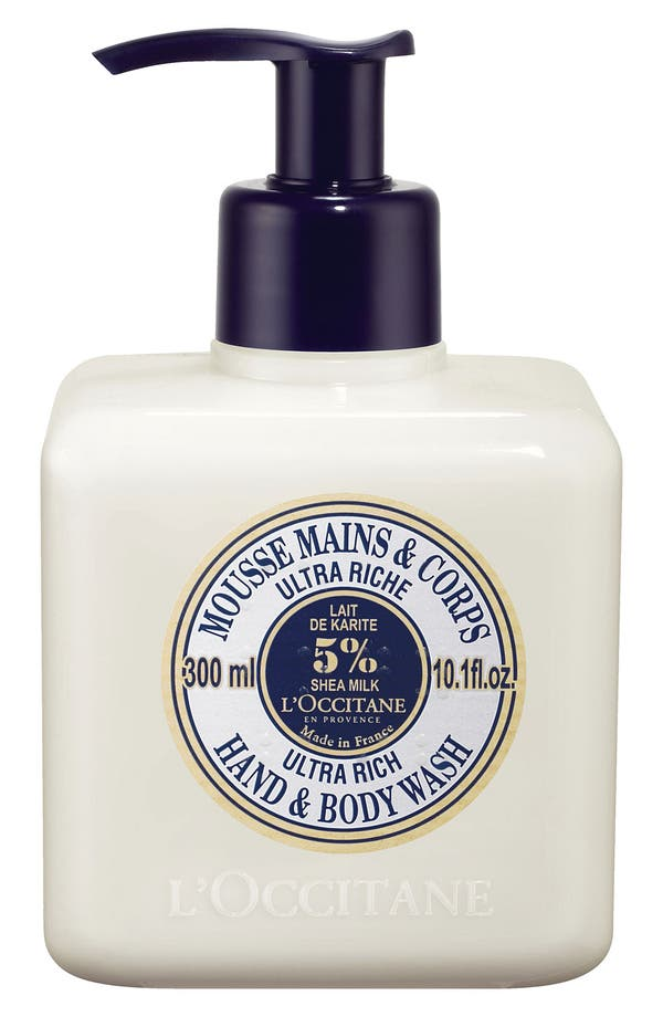 Shea Butter Ultra Rich Hand & Body Wash,                             Main thumbnail 1, color,