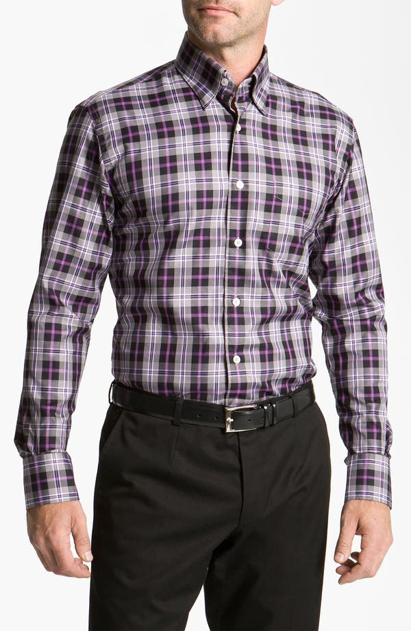 Alternate Image 1 Selected - Canali Regular Fit Woven Shirt