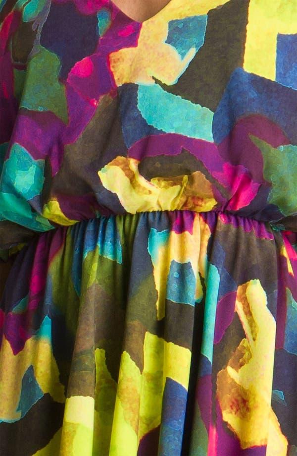 Alternate Image 3  - Alice + Olivia 'Kyra' Print Silk Dress