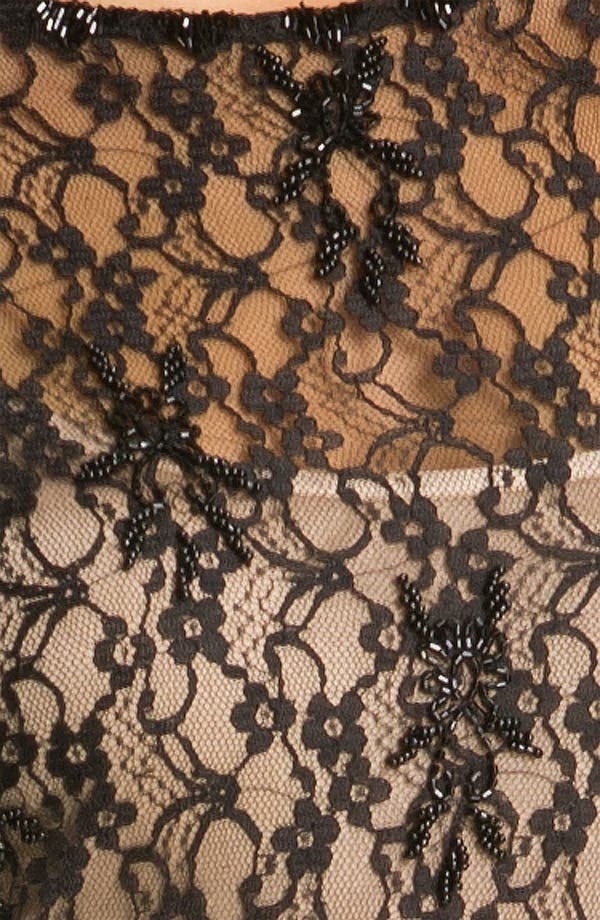 Alternate Image 3  - Aidan Mattox Cap Sleeve Lace Overlay Slip Dress