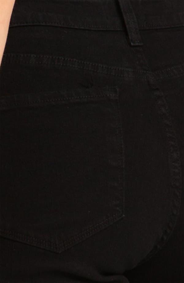 Alternate Image 4  - NYDJ 'Sheri' Stretch Skinny Jeans (Black) (Regular & Petite)