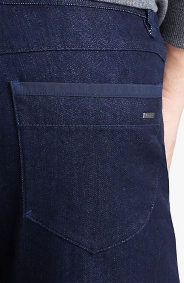 Alternate Image 4  - Zegna Sport 'Cool Max' Straight Leg Jeans (Dark Blue)
