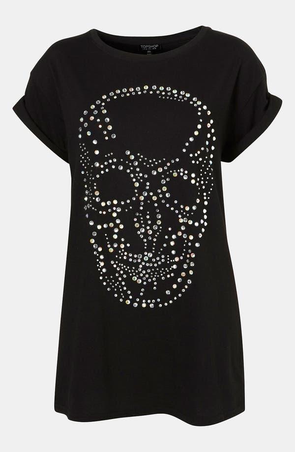 Alternate Image 1 Selected - Topshop 'Crystal Skull' Tunic Tee
