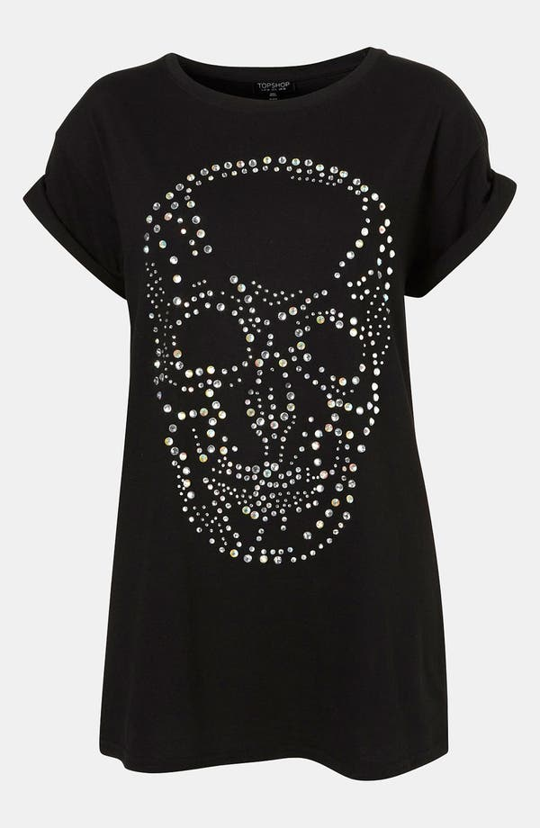 Main Image - Topshop 'Crystal Skull' Tunic Tee