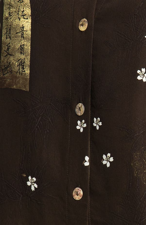 Alternate Image 2  - Citron Embroidered Silk Jacket (Plus)