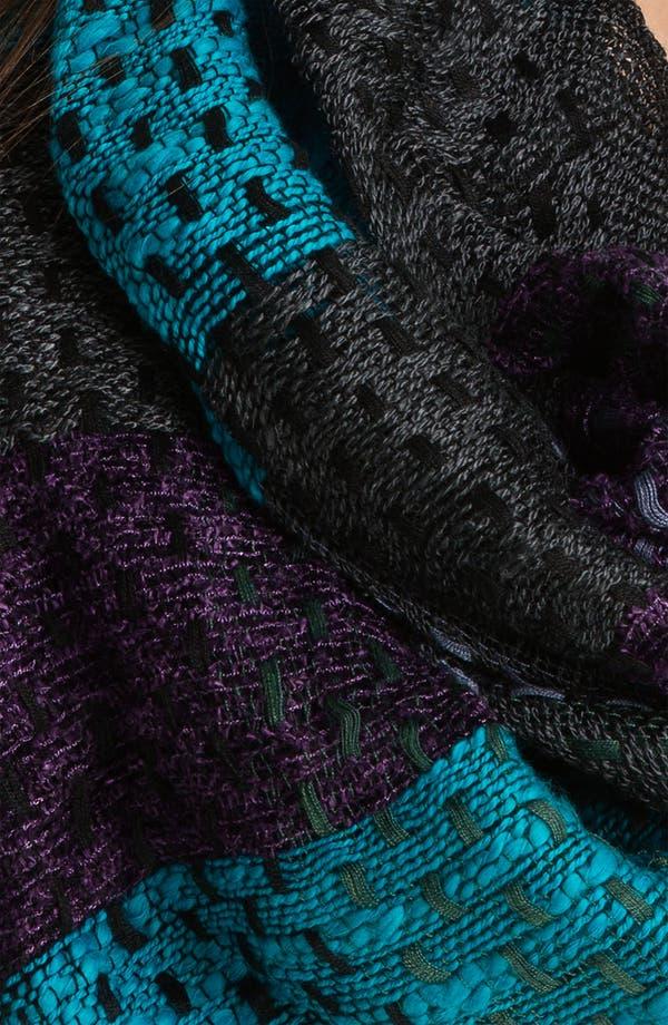 Alternate Image 2  - Brazen Checkered Stitched Yarn Infinity Scarf