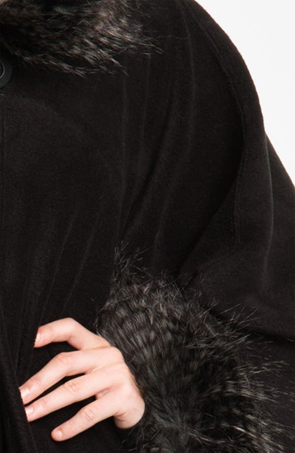 Alternate Image 2  - Parkhurst 'Desmona' Faux Fur Trim Cape