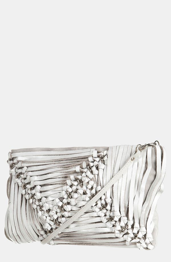 Alternate Image 1 Selected - Topshop Strappy Leather Clutch