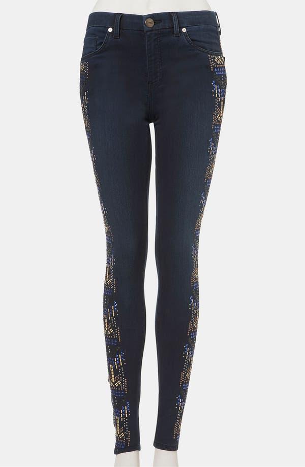 Main Image - Topshop 'Aztec' Studded Jeans