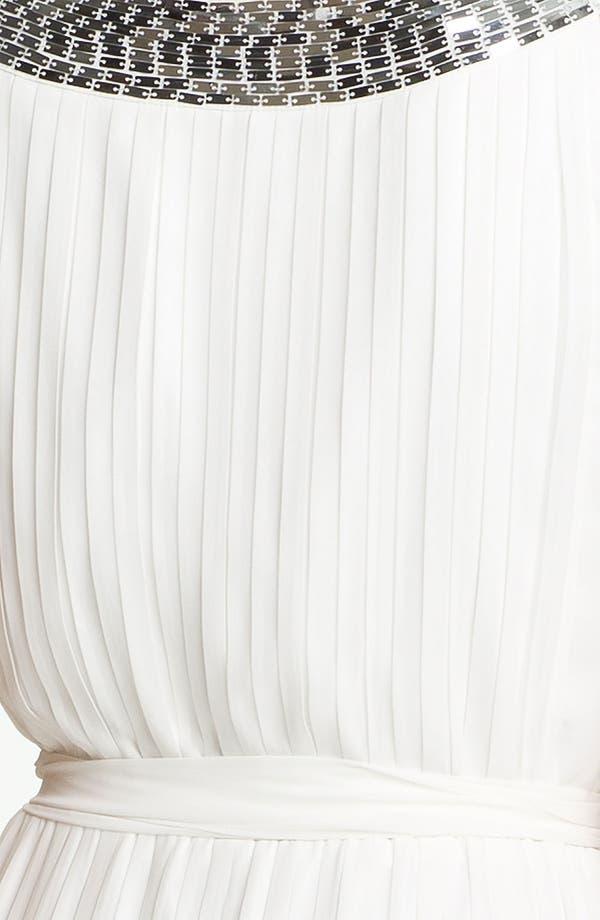 Alternate Image 3  - Calvin Klein Sequin Neck Pleated Chiffon Gown