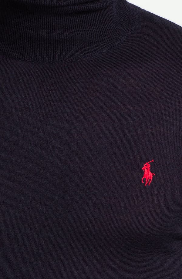 Alternate Image 3  - Polo Ralph Lauren Classic Fit Merino Wool Turtleneck Sweater
