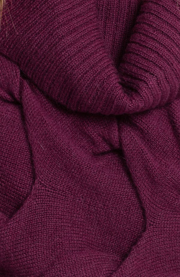 Scrunched Snood,                             Alternate thumbnail 2, color,                             Magenta Purple