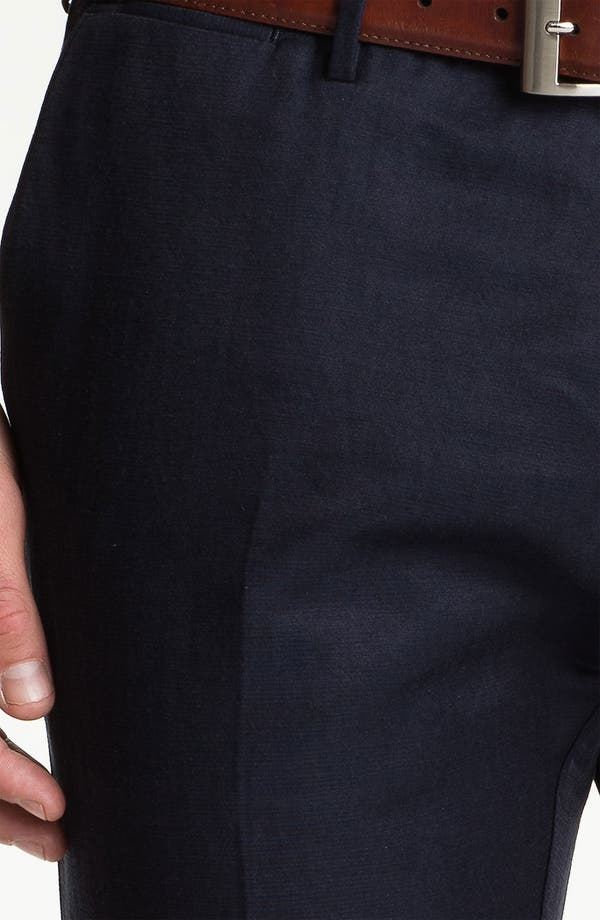 Alternate Image 3  - BOSS Black 'Caleb' Flat Front Silk Blend Pants (Online Only)