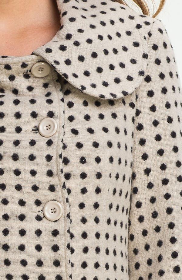 Alternate Image 3  - Tulle Polka Dot Double Breasted Coat (Juniors)