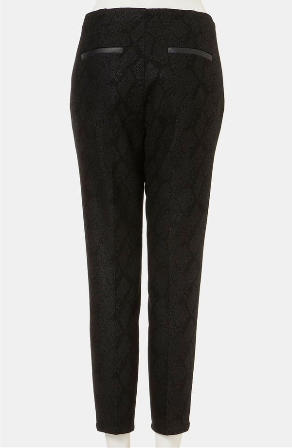 Alternate Image 2  - Topshop Snake Print Crop Cigarette Pants