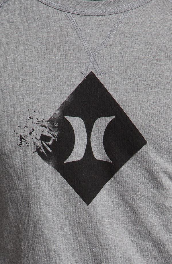 Alternate Image 3  - Hurley 'Broken' Graphic Crewneck Sweatshirt