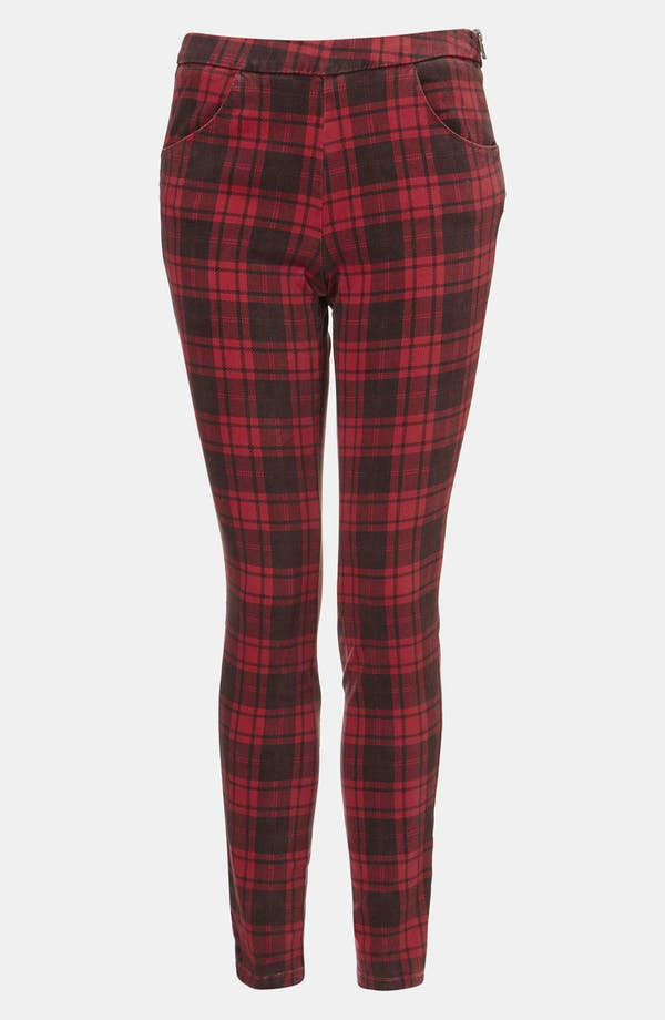 Main Image - Topshop 'Naomi' Plaid Skinny Pants