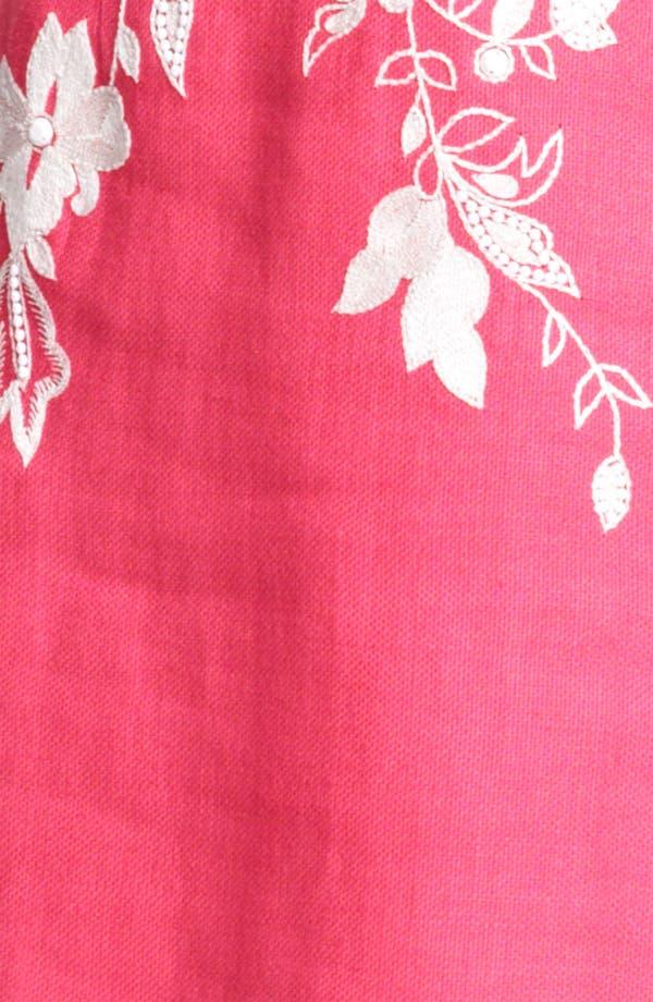 Alternate Image 3  - Naeem Khan Embroidered Linen Sheath Dress