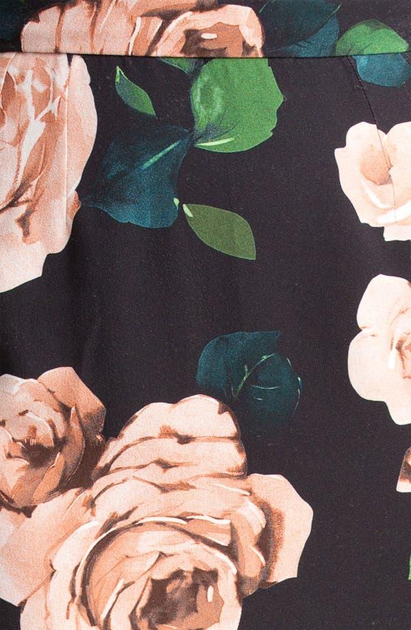 Alternate Image 5  - Dolce&Gabbana Rose Print Stretch Cady Skirt