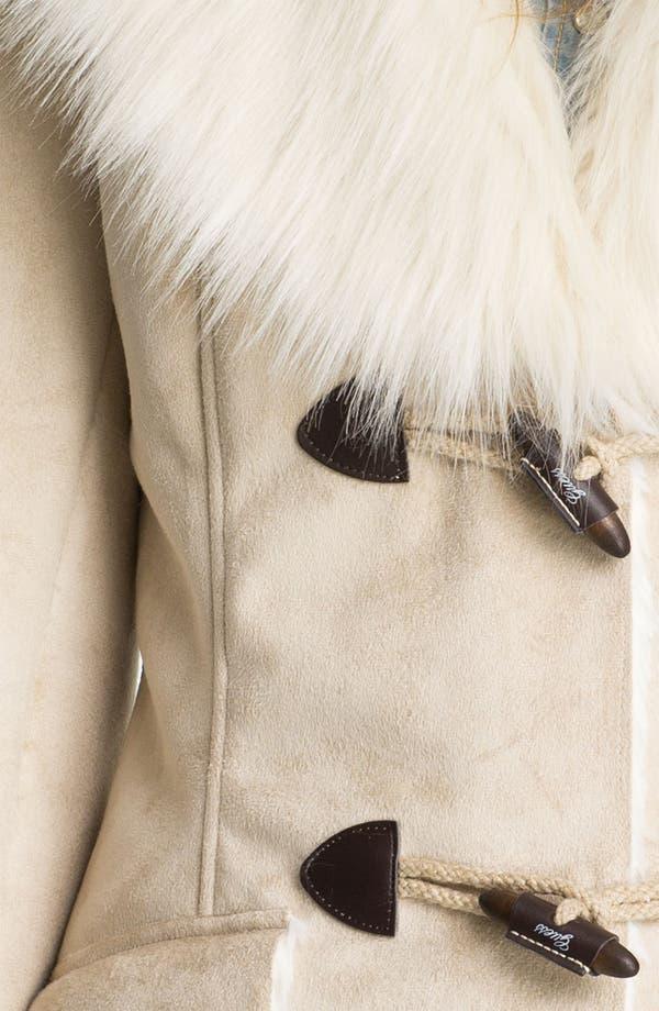Alternate Image 3  - GUESS Faux Shearling Walking Coat
