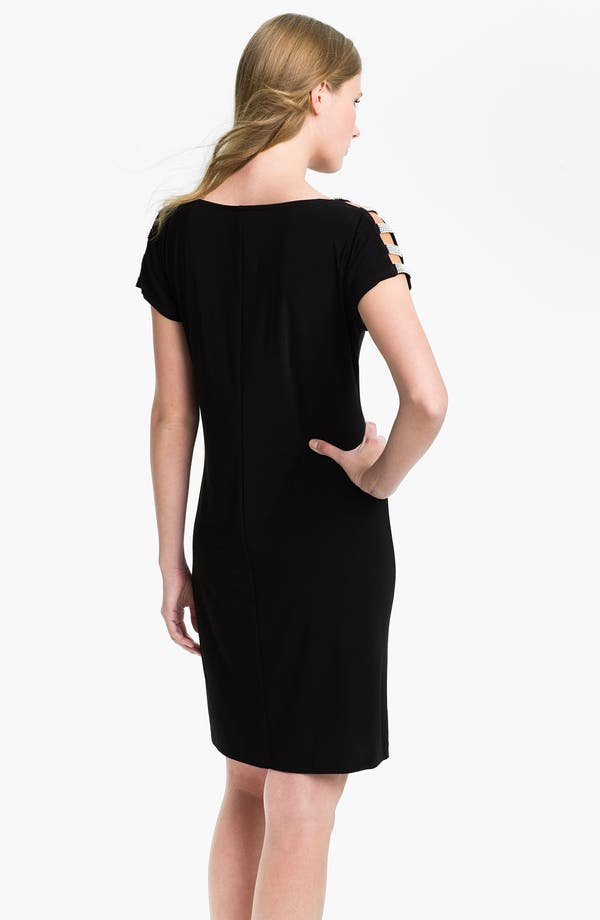 Alternate Image 2  - Pisarro Nights Embellished Shoulder Trim Jersey Dress