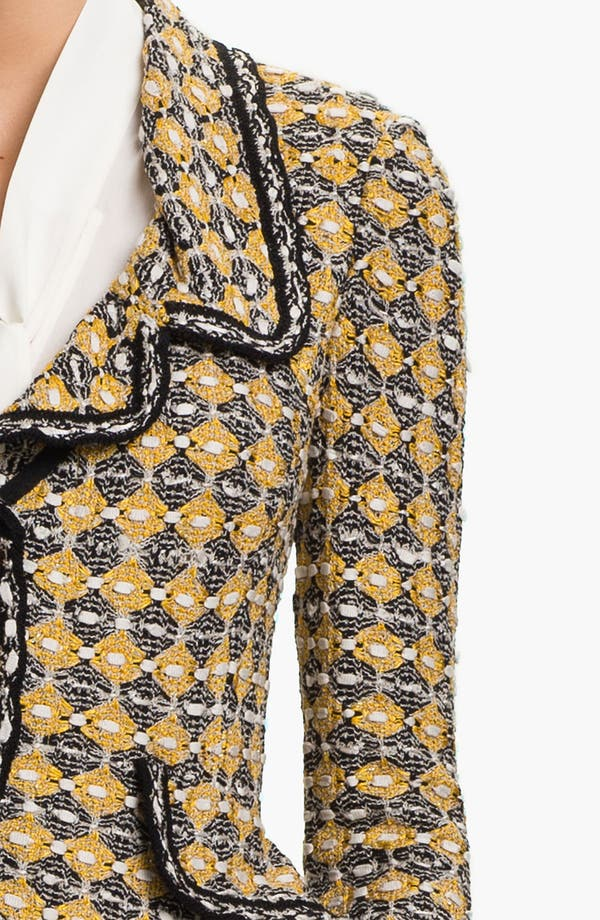 Alternate Image 5  - St. John Collection Geometric Tweed Jacket