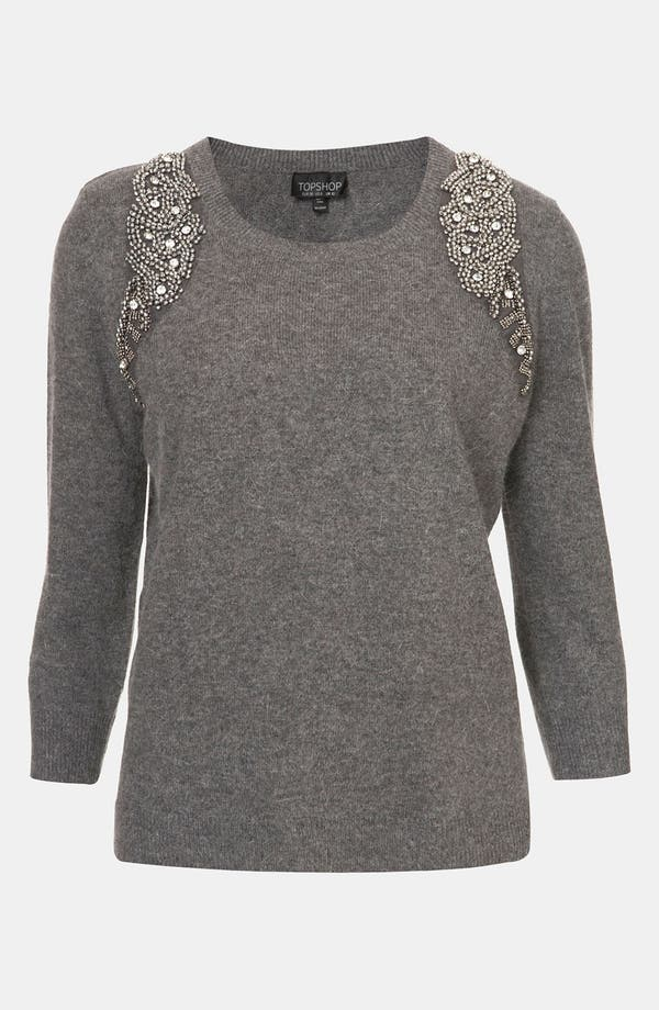 Main Image - Topshop Embellished Harness Sweater