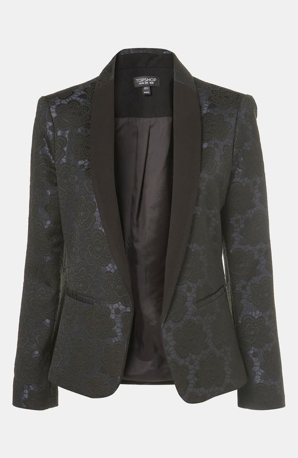 Alternate Image 1 Selected - Topshop Floral Jacquard Tux Blazer