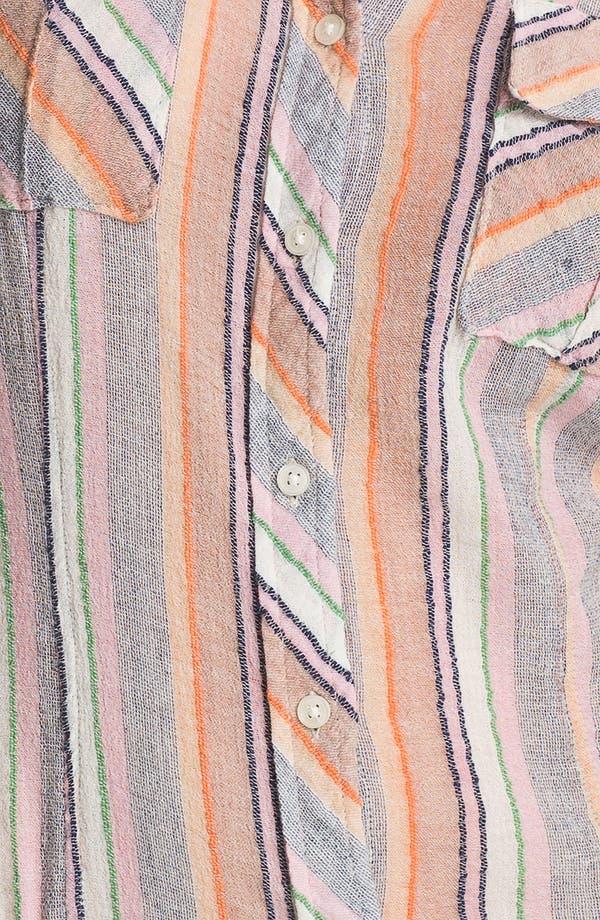 Alternate Image 3  - Free People 'Midwest' Stripe Shirt