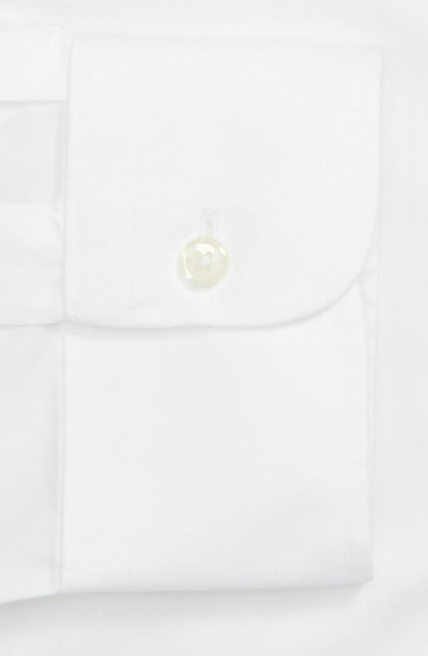 Smartcare<sup>™</sup> Classic Fit Pinpoint Dress Shirt,                             Alternate thumbnail 3, color,                             White