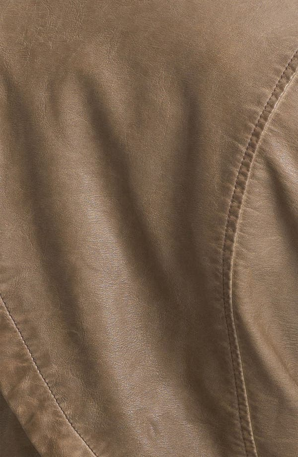 Alternate Image 3  - Sam Edelman Cutaway Back Studded Faux Leather Jacket