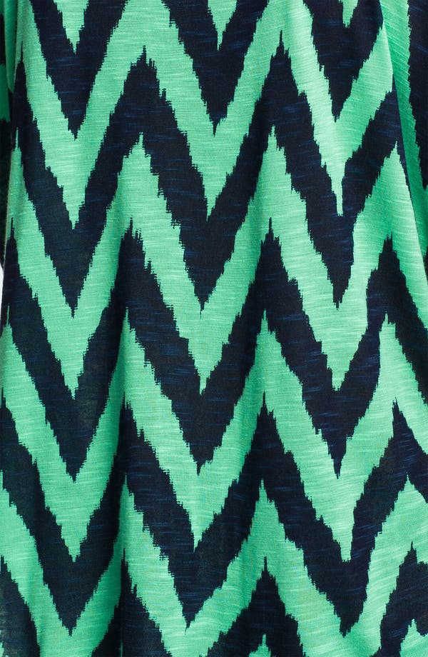 Alternate Image 3  - Ella Moss 'Mazzy' Zigzag Print Swing Tee