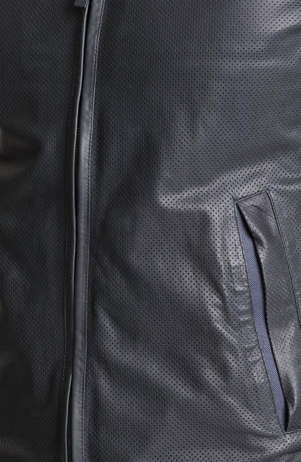 Alternate Image 3  - Z Zegna Hooded Leather Jacket