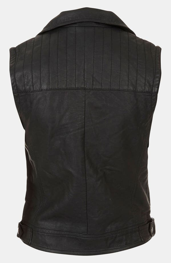 Alternate Image 2  - Topshop 'Maddy' Sleeveless Biker Jacket