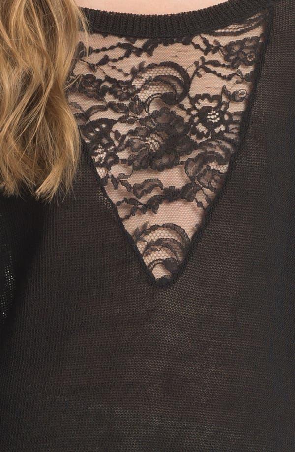Alternate Image 5  - Haute Hippie Lace Inset Sweater