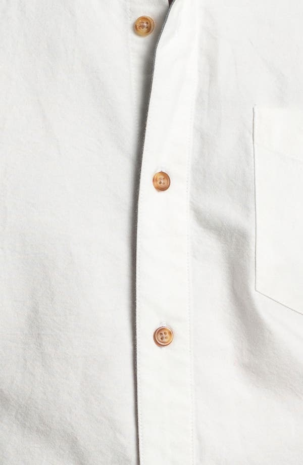 Alternate Image 3  - 1901 Trim Fit Short Sleeve Oxford Sport Shirt
