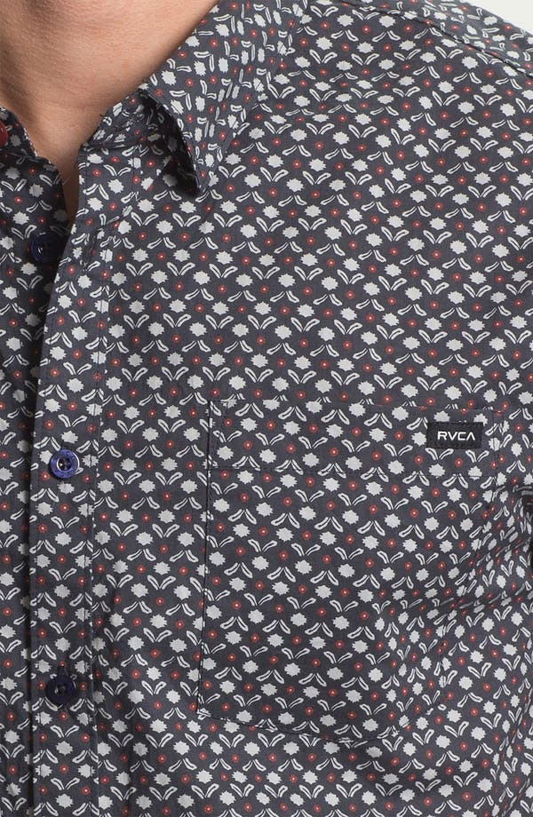 Alternate Image 3  - RVCA 'Dimensions' Print Woven Shirt