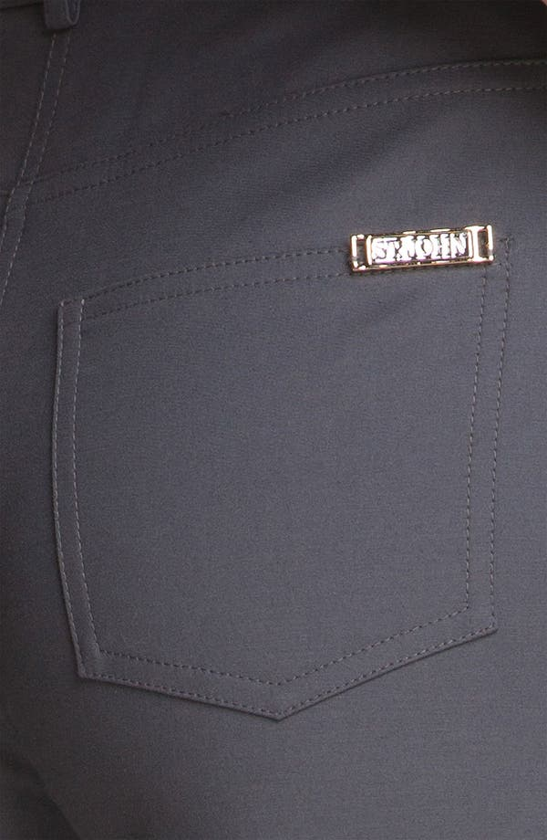 Alternate Image 5  - St. John Yellow Label 'Marie' Double Weave Stretch Cotton Pants
