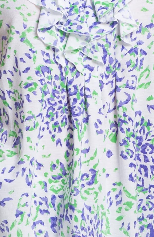 Alternate Image 3  - Oscar de la Renta Sleepwear 'Animal Blossom' Print Pajamas