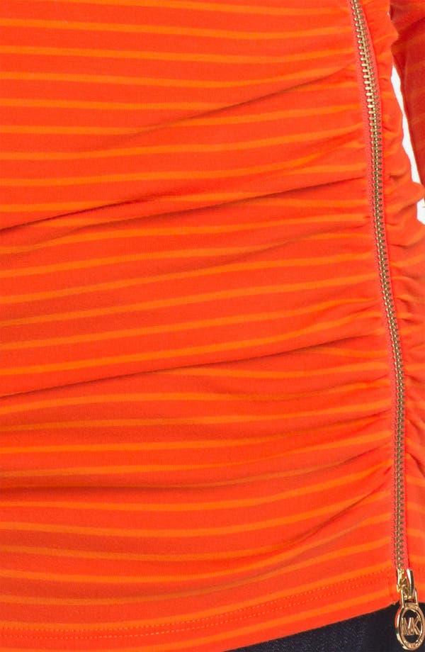 Alternate Image 3  - MICHAEL Michael Kors Zipper Detail Stripe Top (Plus)