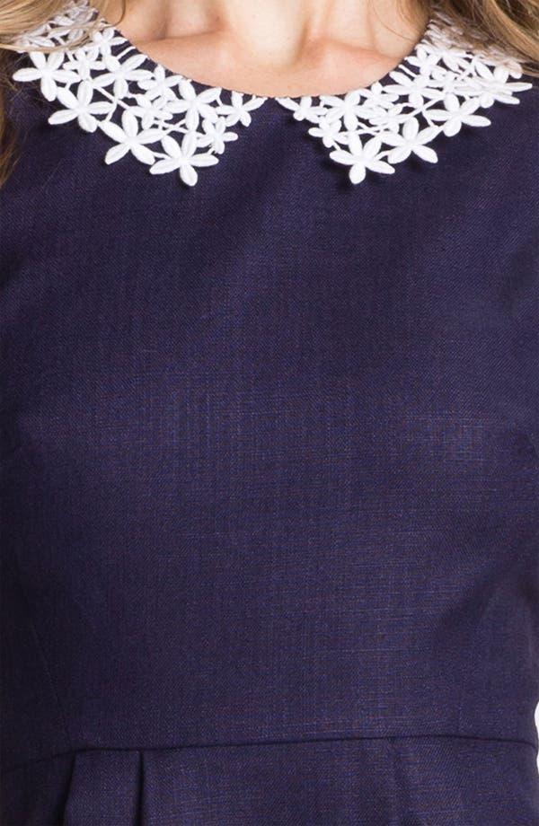 Alternate Image 3  - kate spade new york 'tiff' linen blend sheath dress