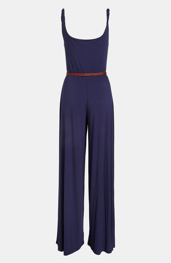 Alternate Image 3  - BB Dakota Twisted Strap Jersey Jumpsuit