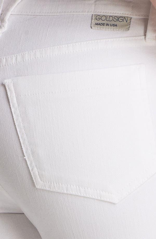 Alternate Image 3  - Goldsign 'Jenny' High Waist Crop Skinny Jeans (Divine)