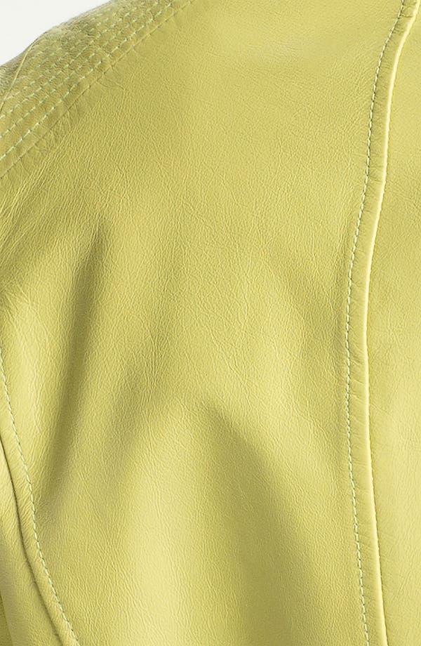 Alternate Image 3  - Vince Camuto Leather Biker Jacket