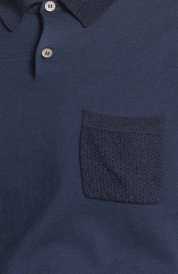 Alternate Image 3  - Topman 'Lux Collection' Mesh Knit Cotton Polo
