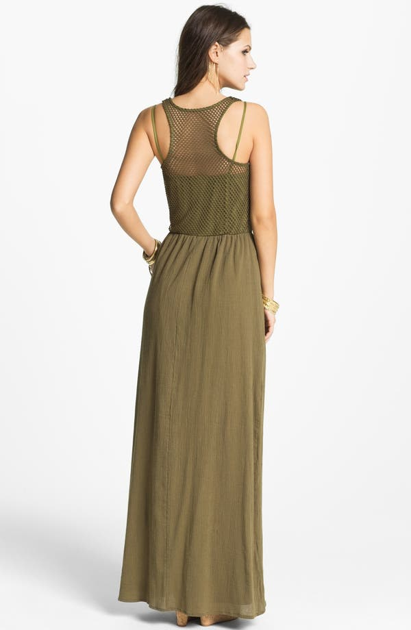 Alternate Image 2  - Way-In Maxi Dress (Juniors)