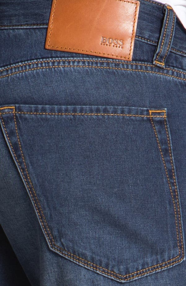 Alternate Image 4  - BOSS HUGO BOSS 'Maine' Straight Leg Jeans (Medium Rinse)