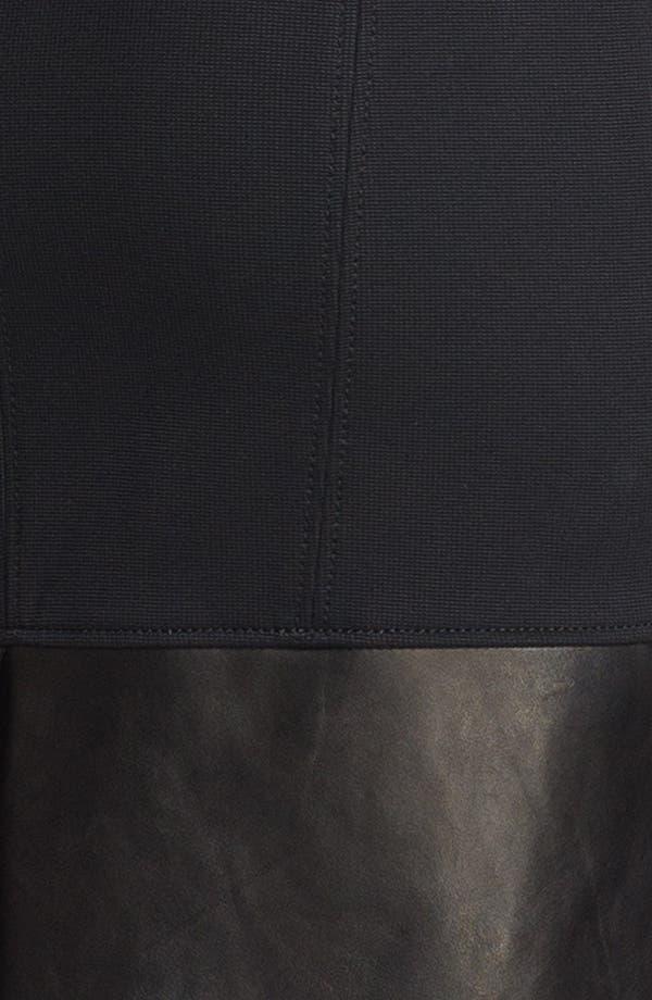Alternate Image 3  - Helmut Lang 'Motion' Leather Trim Dress
