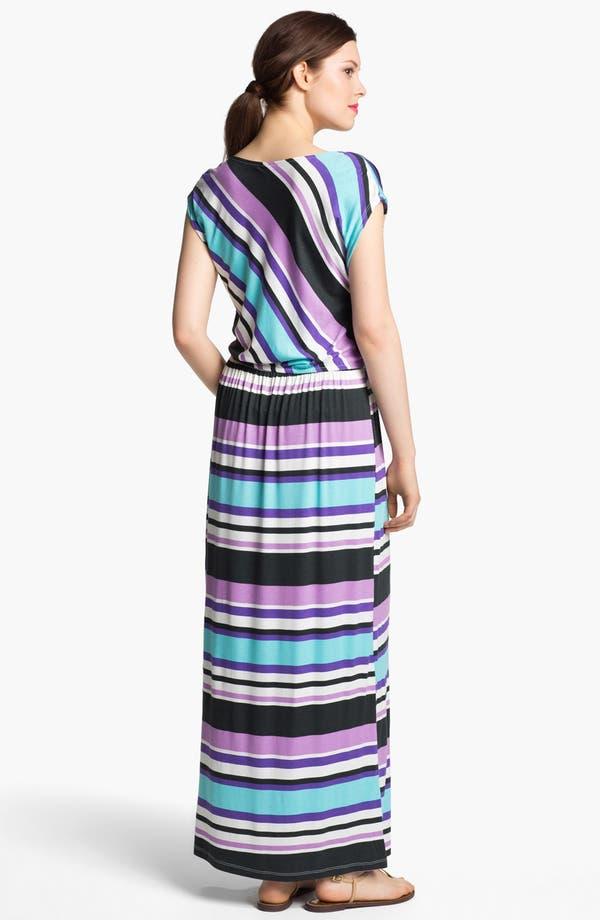 Alternate Image 2  - Bobeau Drape Neck Maxi Dress